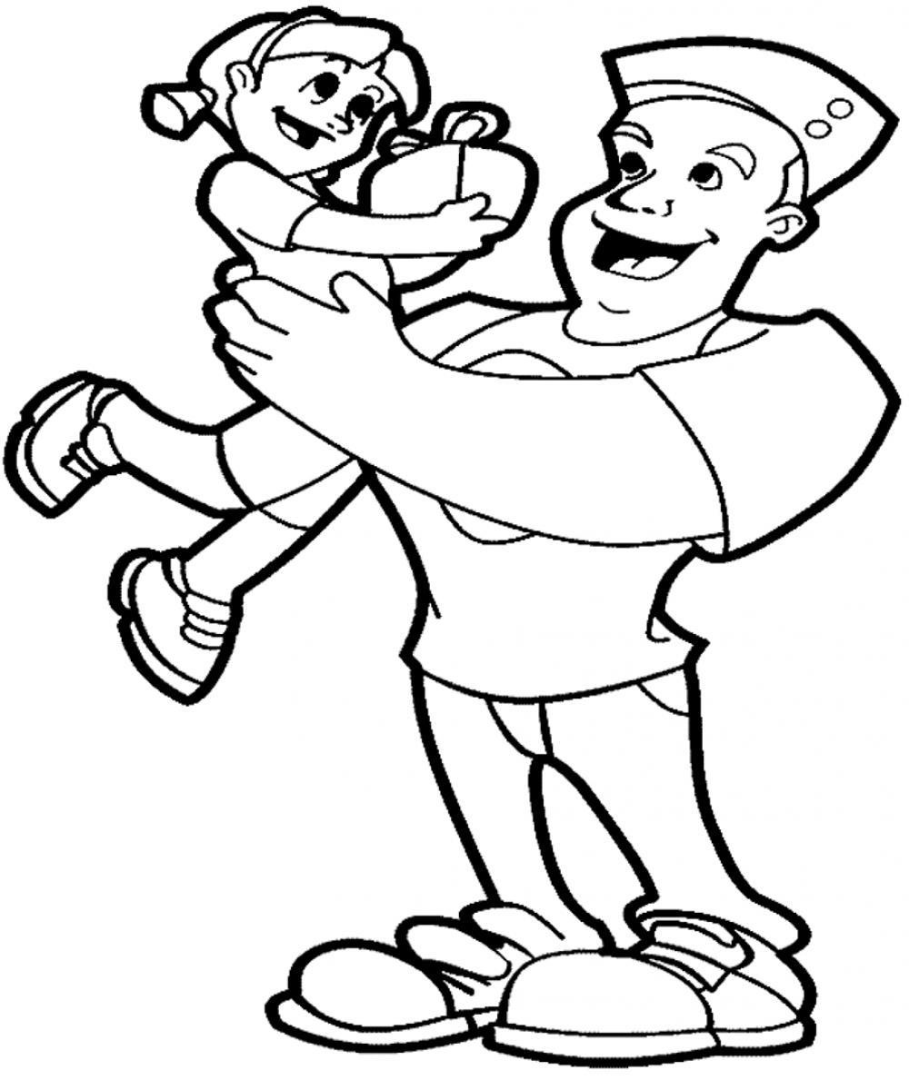 father and daughter coloring pages fathers day coloring pages coloring pages daughter father and