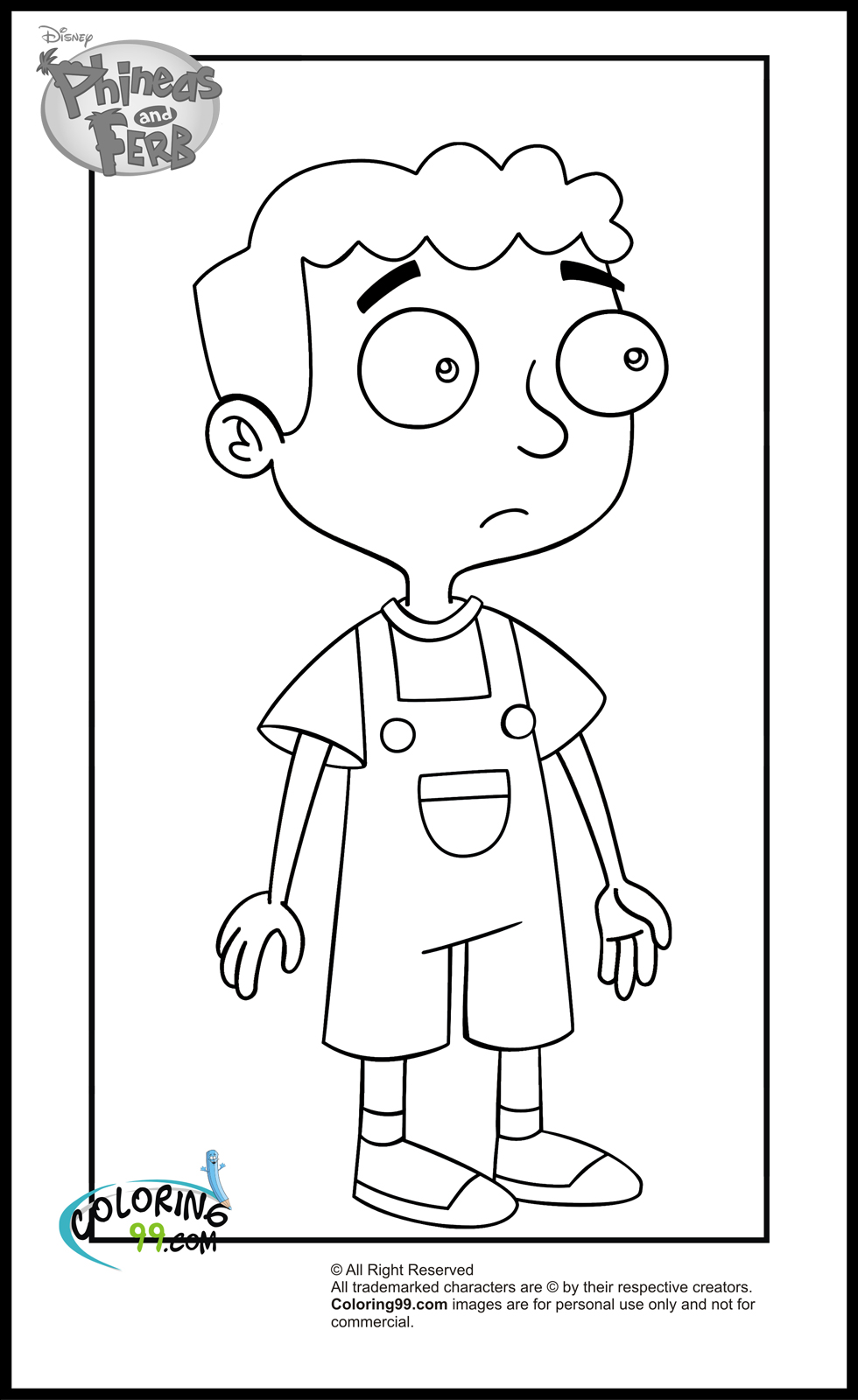 ferb coloring pages free printable phineas and ferb coloring pages for kids pages coloring ferb