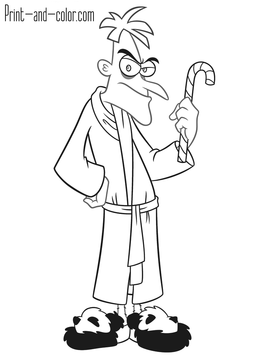 ferb coloring pages phineas and ferb coloring pages 2 disneyclipscom coloring pages ferb