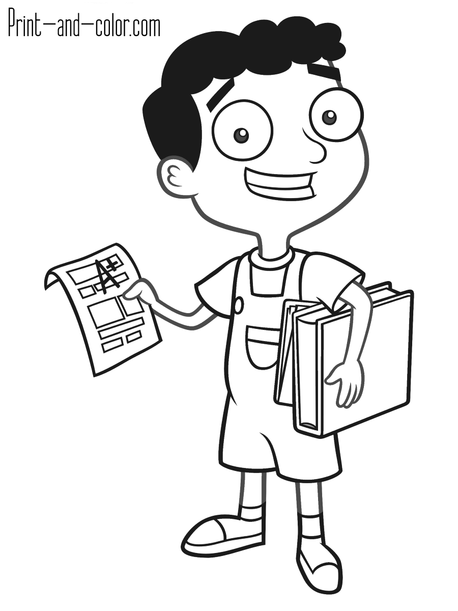ferb coloring pages phineas and ferb coloring pages disneyclipscom coloring ferb pages