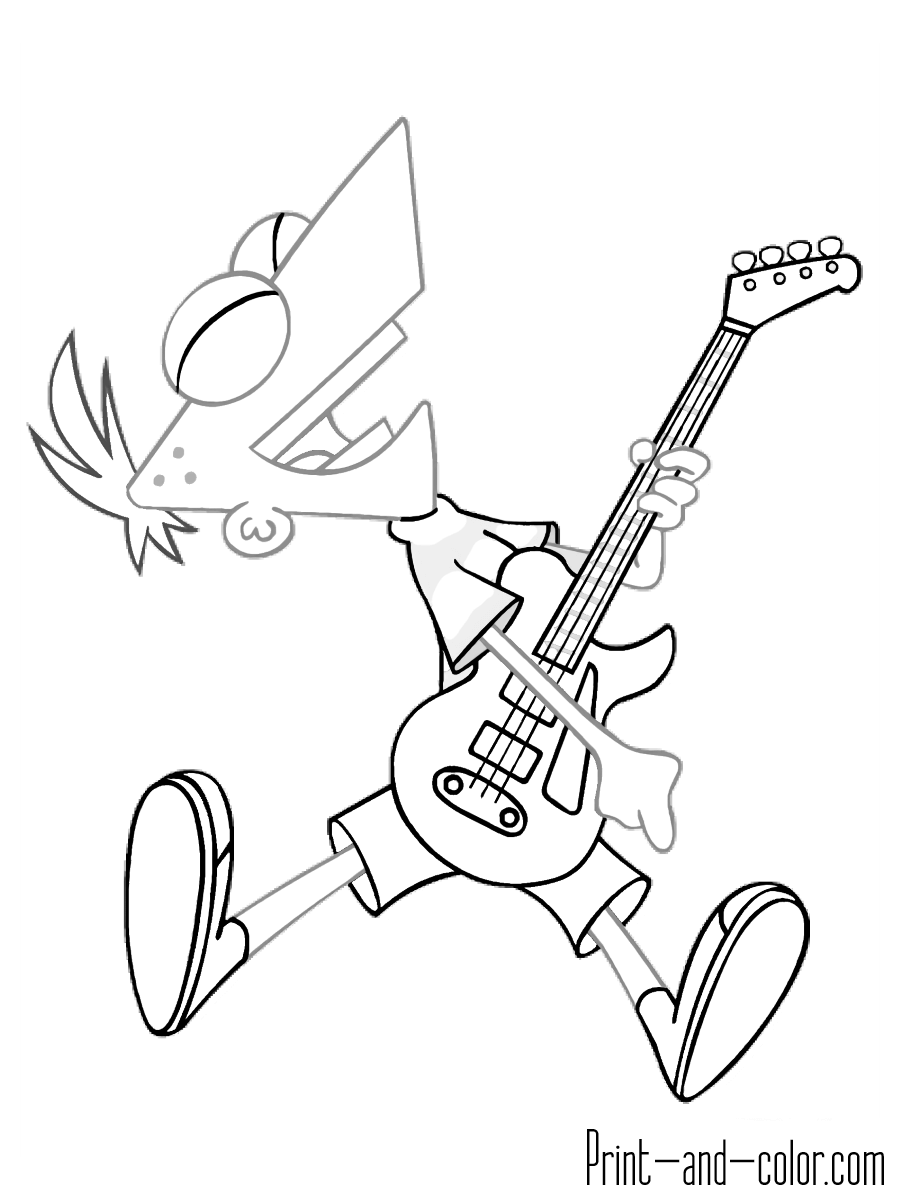 ferb coloring pages phineas and ferb coloring pages disneyclipscom ferb coloring pages