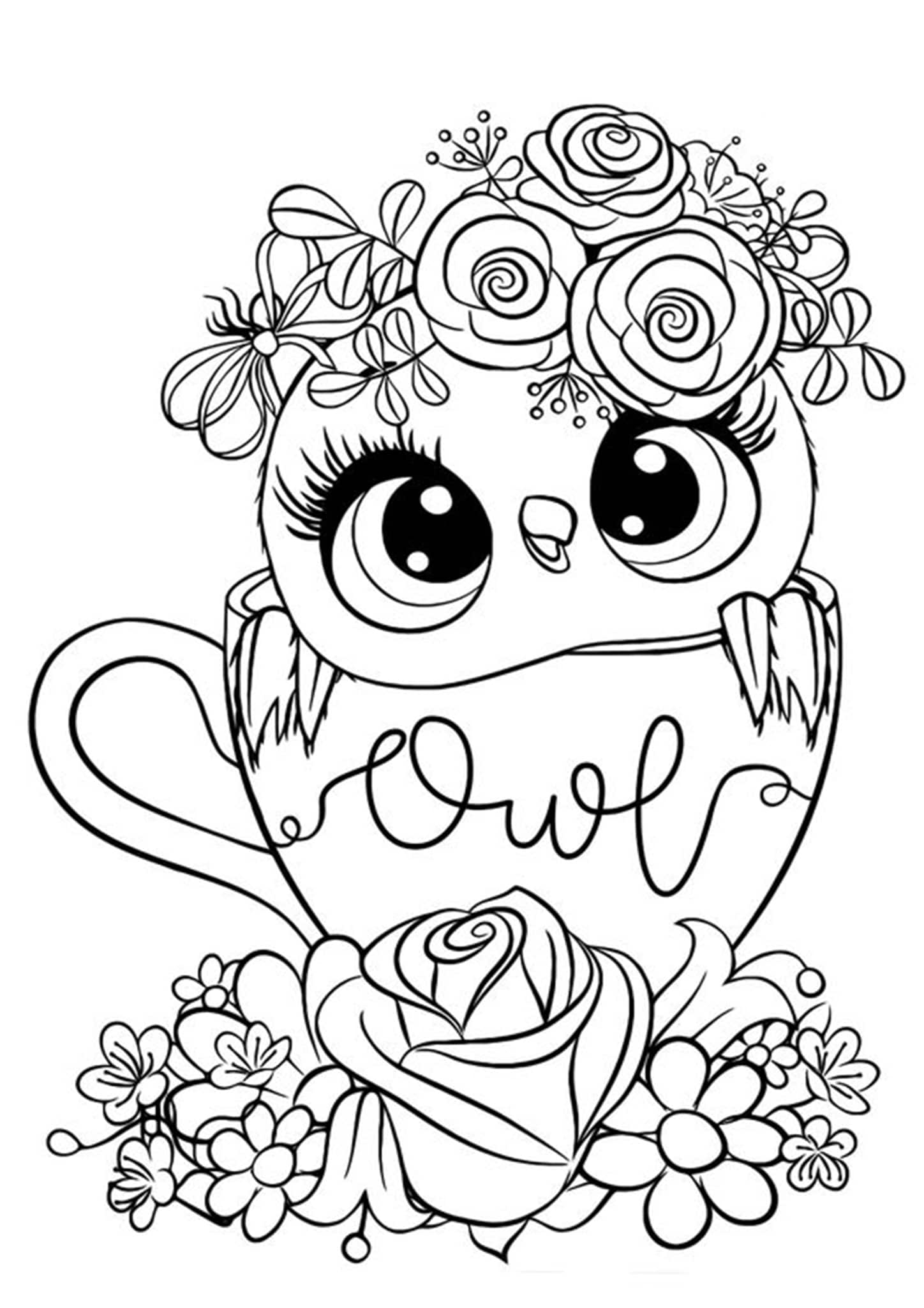finished owl coloring pages completed adult coloring pages at getcoloringscom free coloring owl pages finished