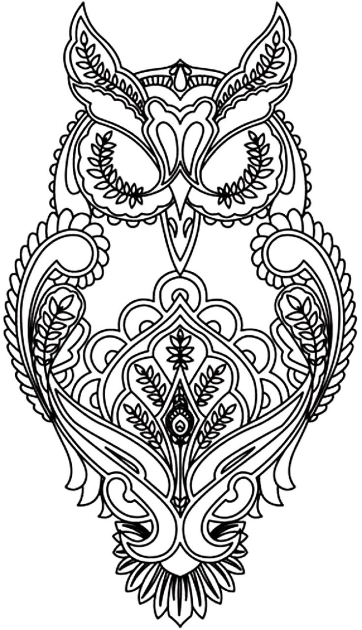 finished owl coloring pages decorative owl mandalas para colorear mandalas para owl finished coloring pages