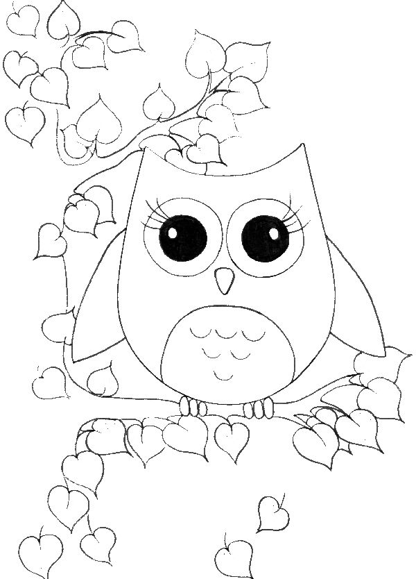 finished owl coloring pages pin on coloring sheets coloring owl pages finished