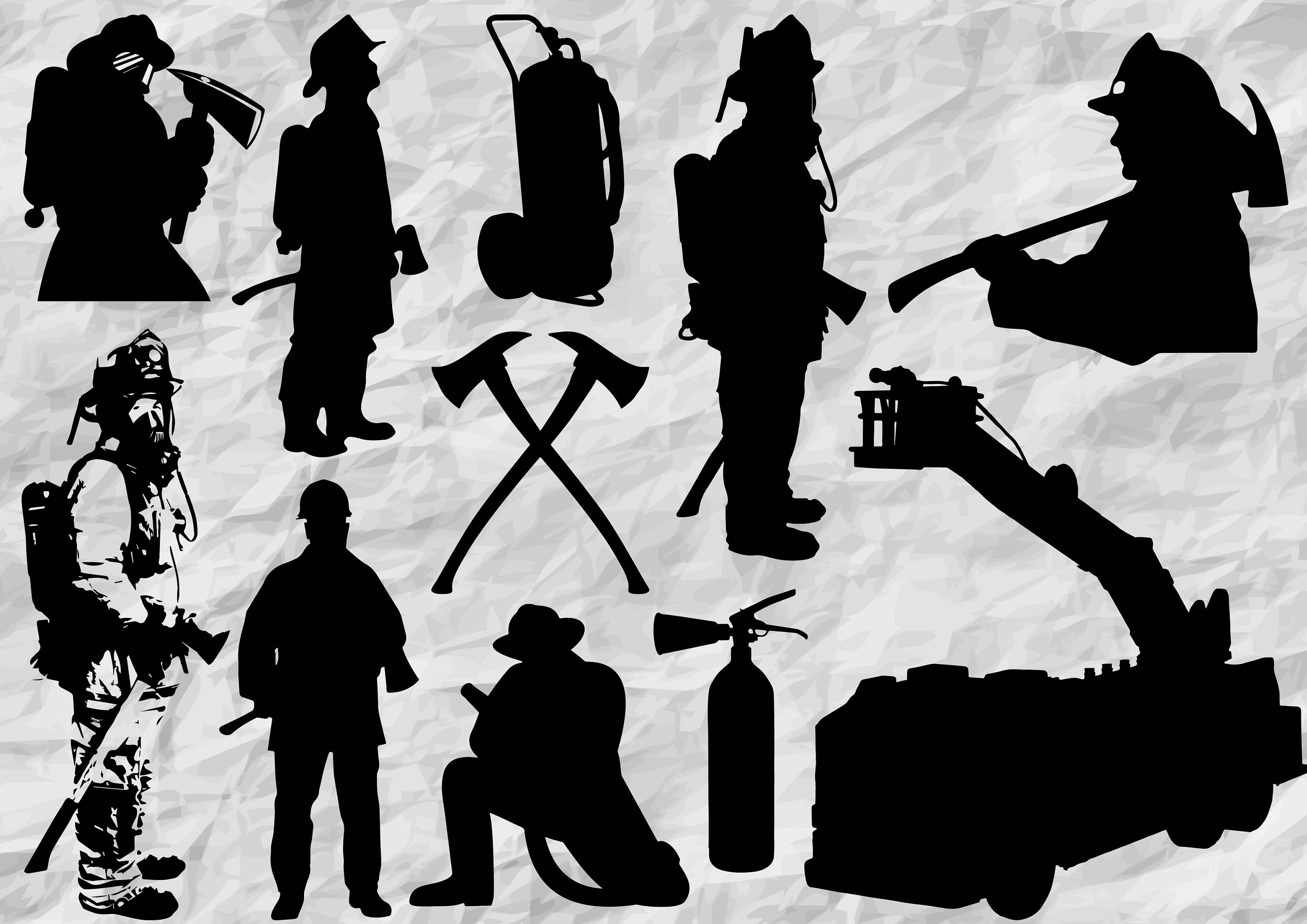 firefighter silhouette firefighter silhouette illustrations royalty free vector silhouette firefighter