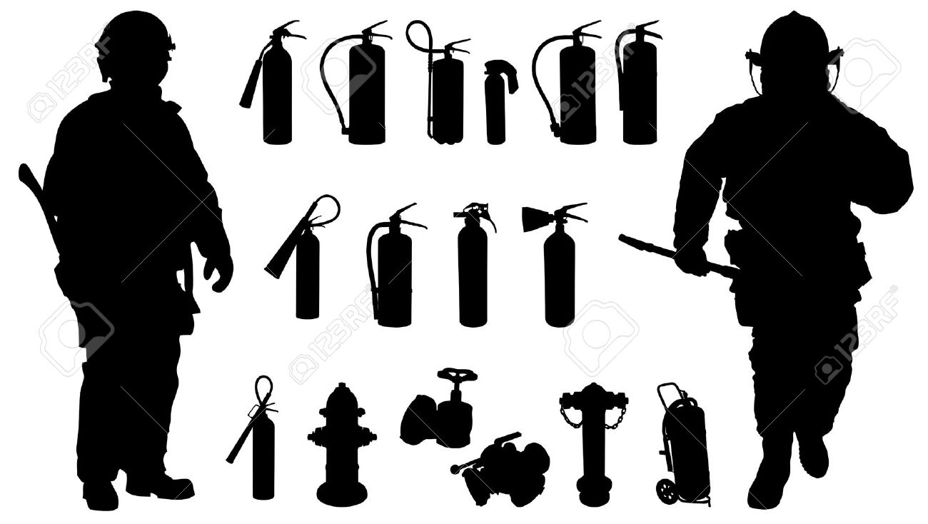firefighter silhouette fireman kneeling wax laser cut appliques silhouette firefighter