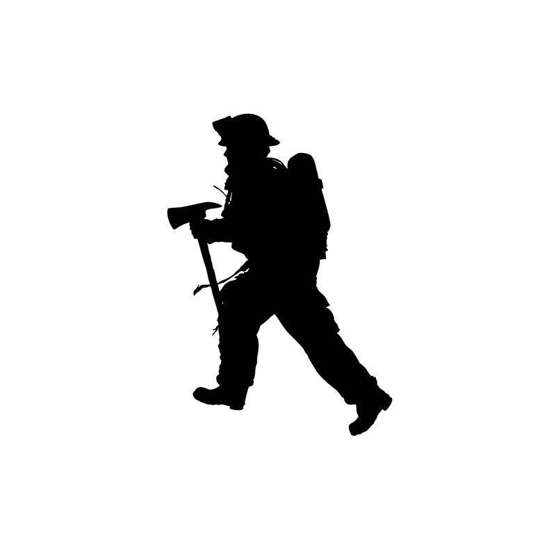 firefighter silhouette silhouette firefighter at getdrawings free download firefighter silhouette