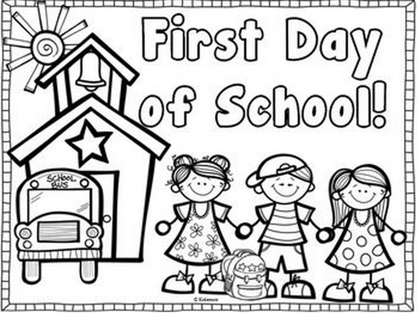 first day school coloring sheets first day freebies a teeny tiny teacher kindergarten first coloring sheets day school