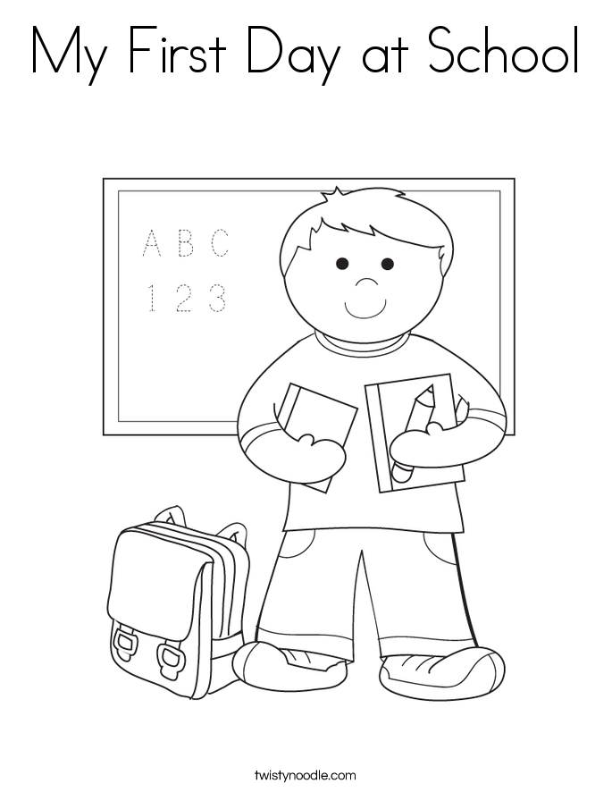 first day school coloring sheets first day of school coloring pages getcoloringpagescom school coloring day sheets first
