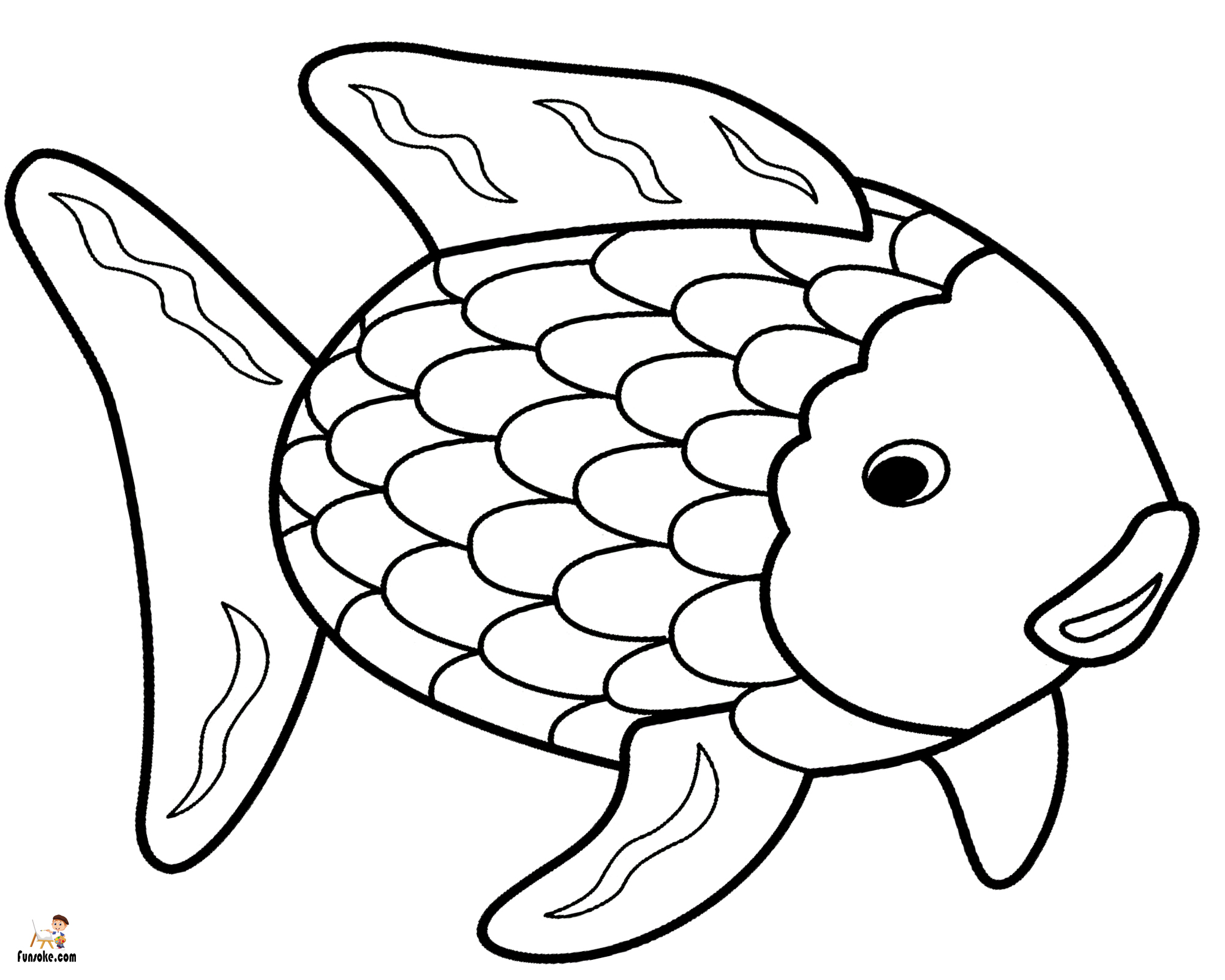 fish picture to color fish coloring pages for kids preschool and kindergarten color picture fish to