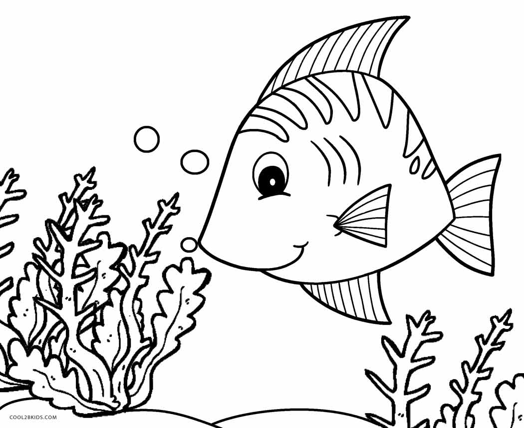fish to color cute cartoon flounder fish coloring page free printable to fish color