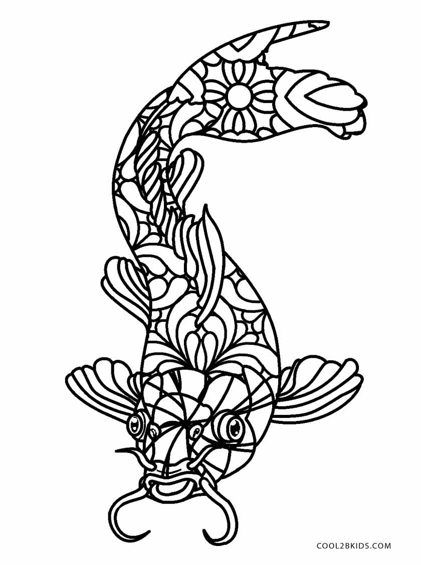 fish to color print download cute and educative fish coloring pages fish color to