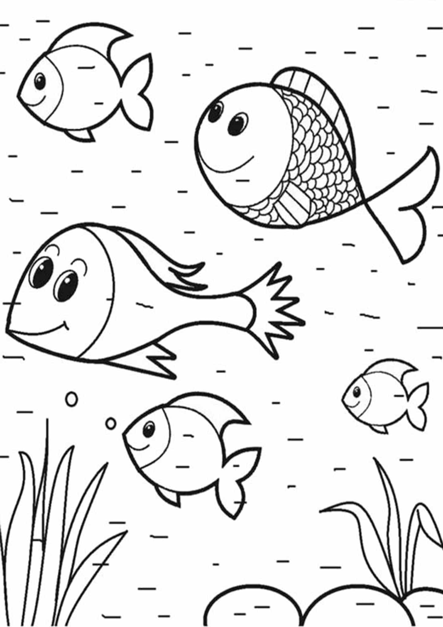 fish to color printable goldfish coloring pages for kids cool2bkids color to fish