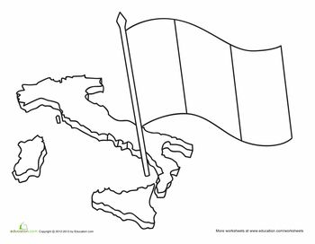 flag of italy to color italian flag coloring page flag coloring pages italian color italy of to flag