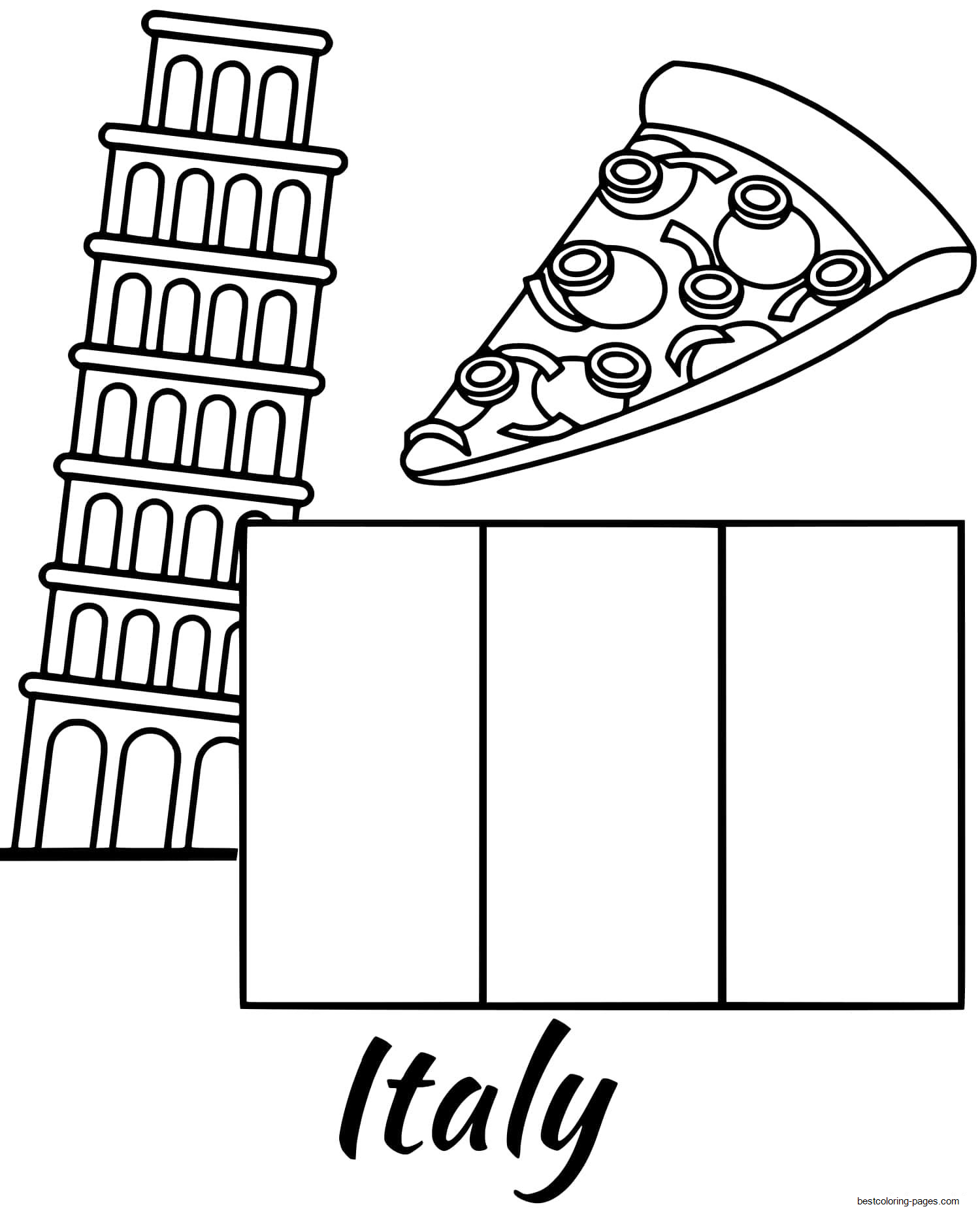 flag of italy to color italian flag coloring sheet in 2020 coloring sheets flag color italy of to