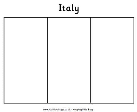 flag of italy to color printable italian flag to color flag coloring pages of italy color to flag