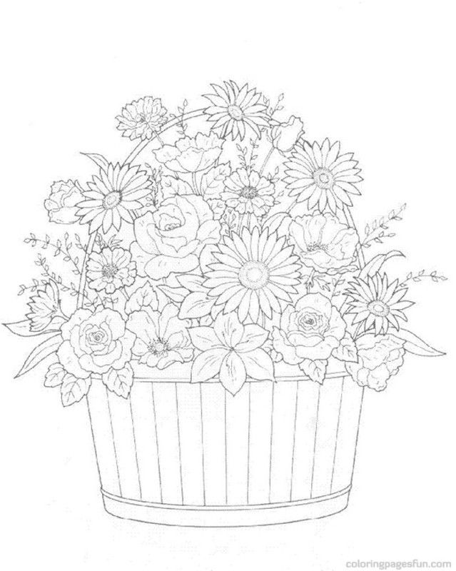 flower bouquet coloring page 102 flower coloring pages customize and print ad free pdf page bouquet coloring flower