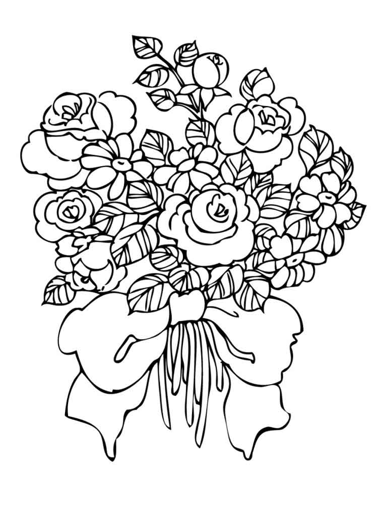 flower bouquet coloring page bouquet of flowers coloring pages for childrens printable bouquet page coloring flower