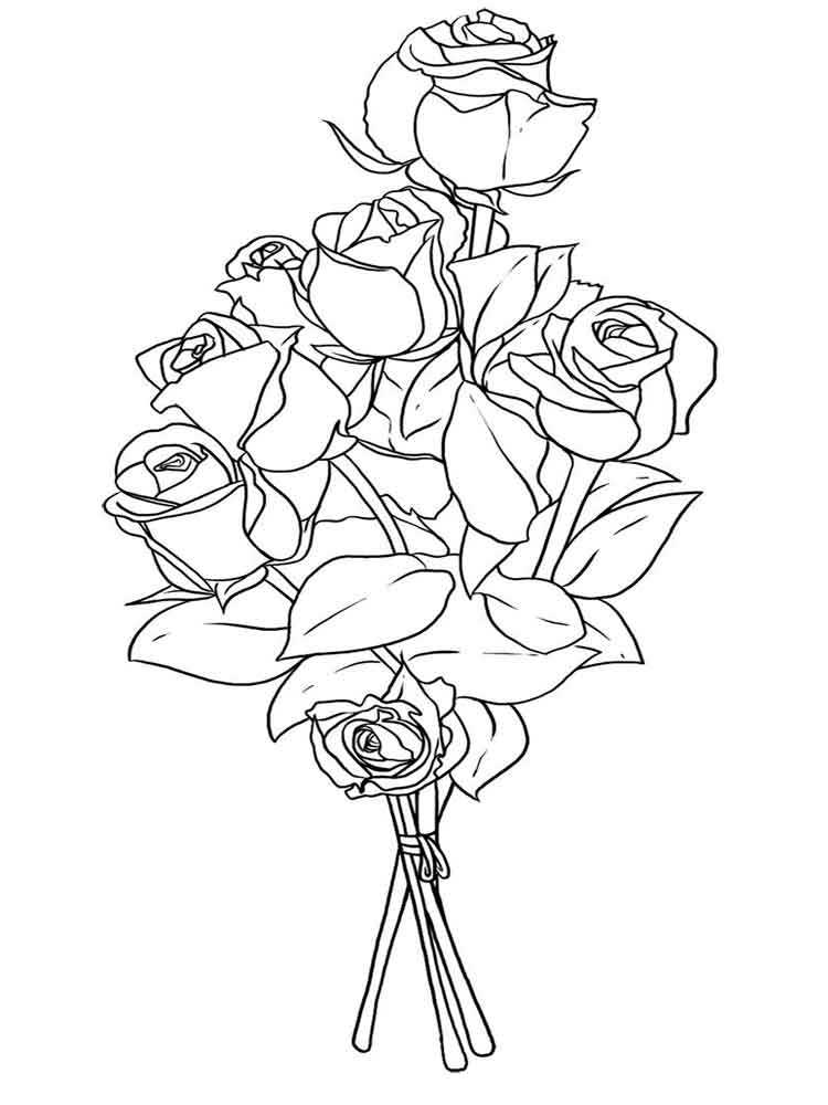 flower bouquet coloring page bouquet of flowers coloring pages for childrens printable flower bouquet page coloring
