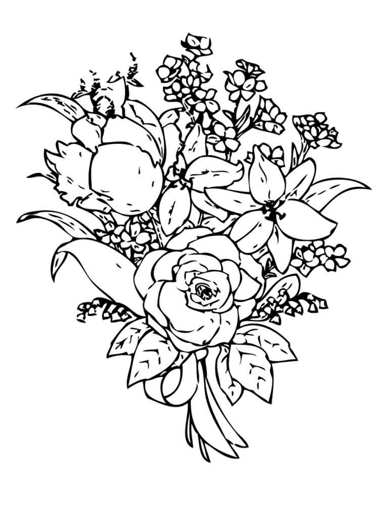 flower bouquet coloring page bouquet of flowers coloring pages for childrens printable page coloring bouquet flower