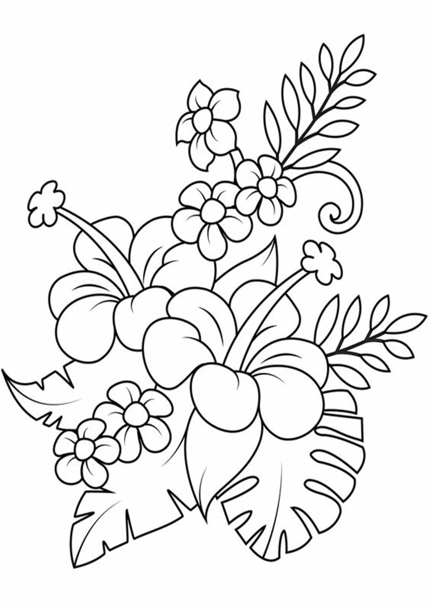 flower bouquet coloring page free easy to print flower coloring pages tulamama bouquet coloring page flower