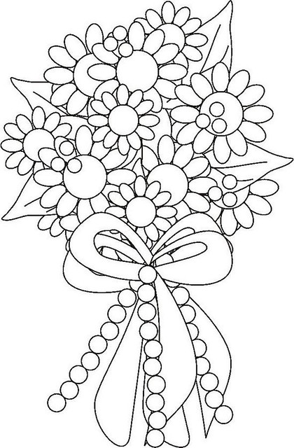 flower bouquet coloring page realistic flower coloring pages divyajananiorg bouquet flower page coloring