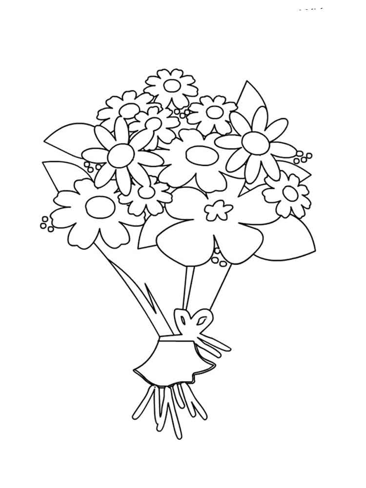 flower bouquet coloring page tulips for flower bouquet coloring page color luna flower coloring bouquet page