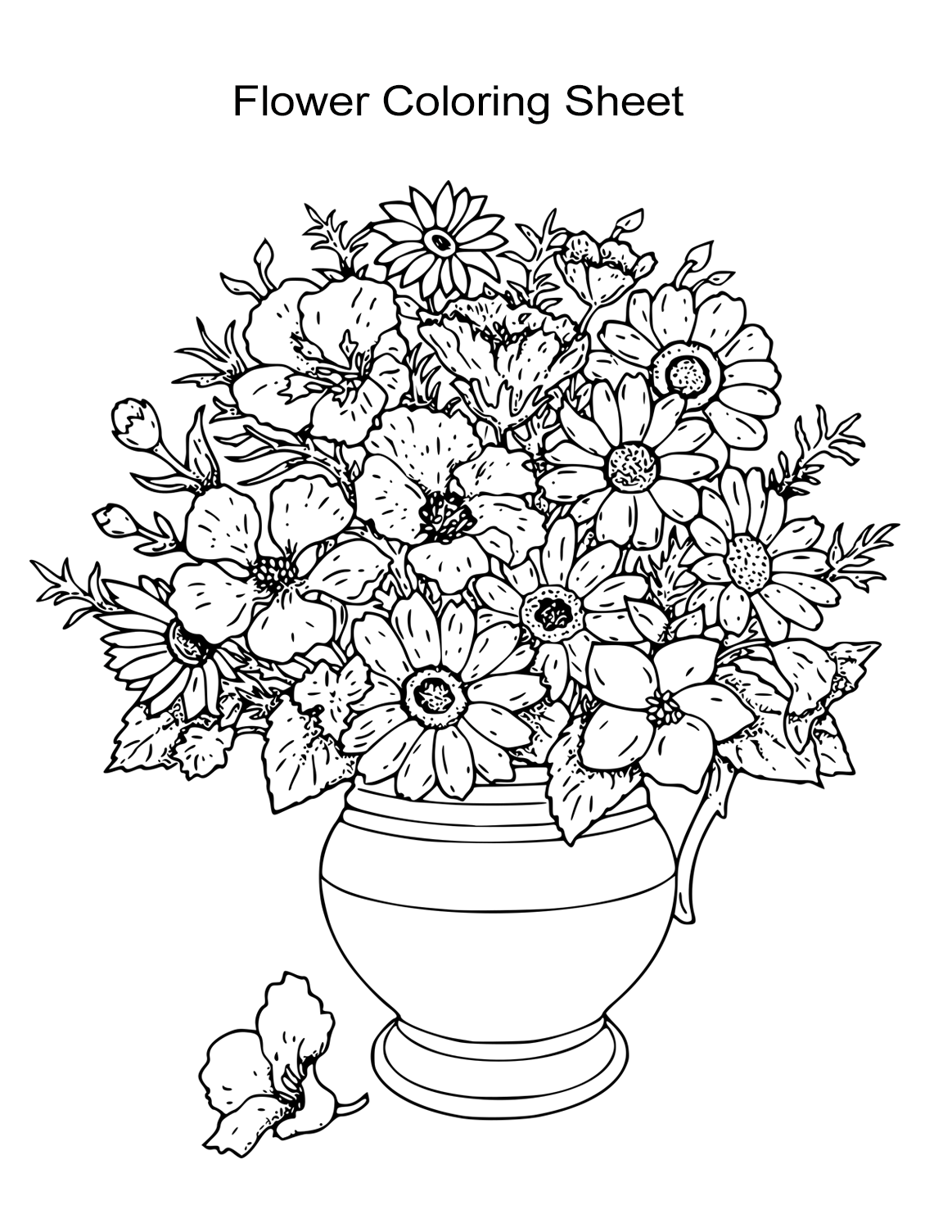 flower coloring pages for kids 10 flower coloring sheets for girls and boys all esl flower pages for coloring kids