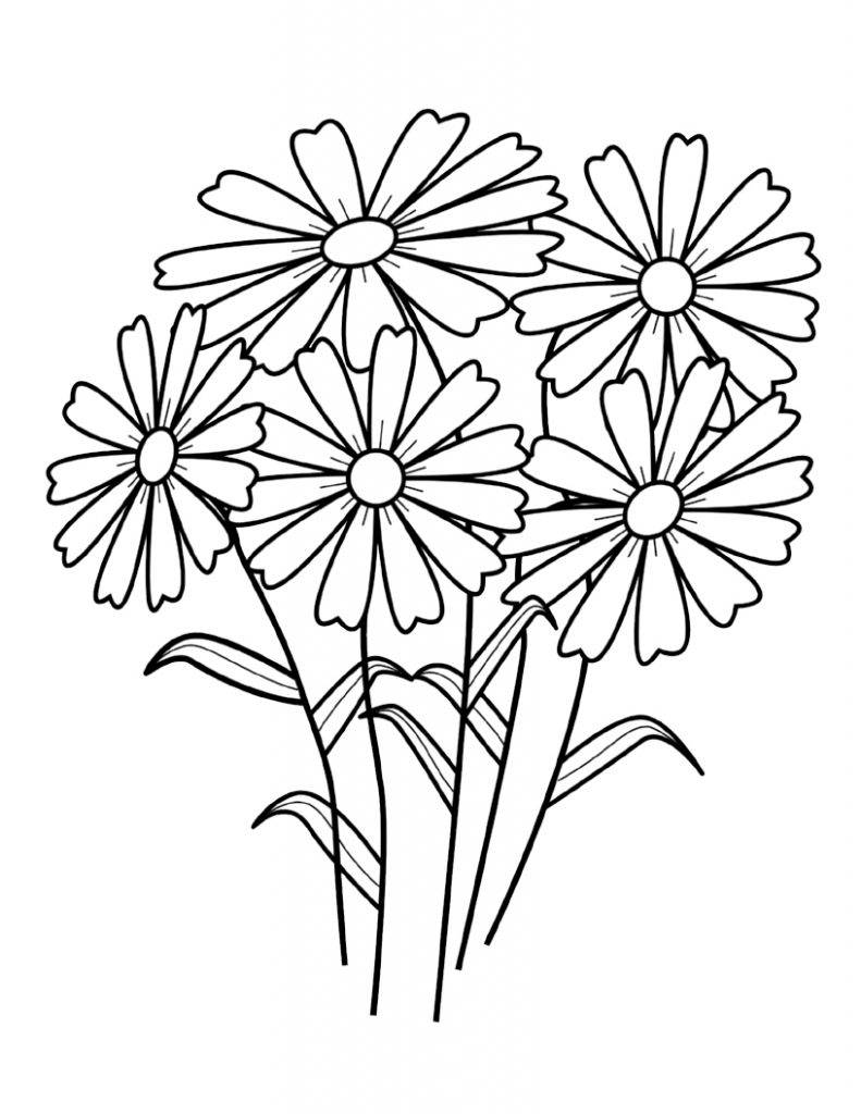 flower coloring pages for kids free printable flower coloring pages for kids best coloring for flower pages kids