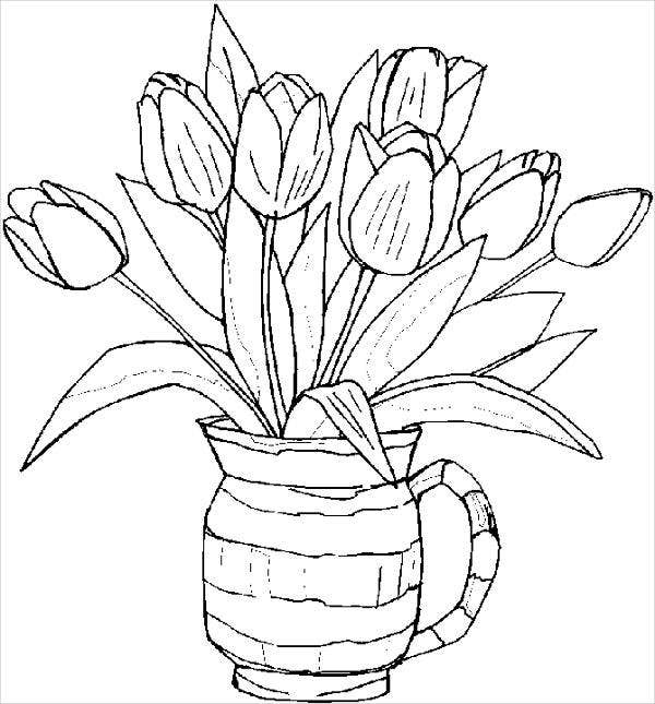 flower templates for coloring 10 spring coloring pages free premium templates for templates coloring flower