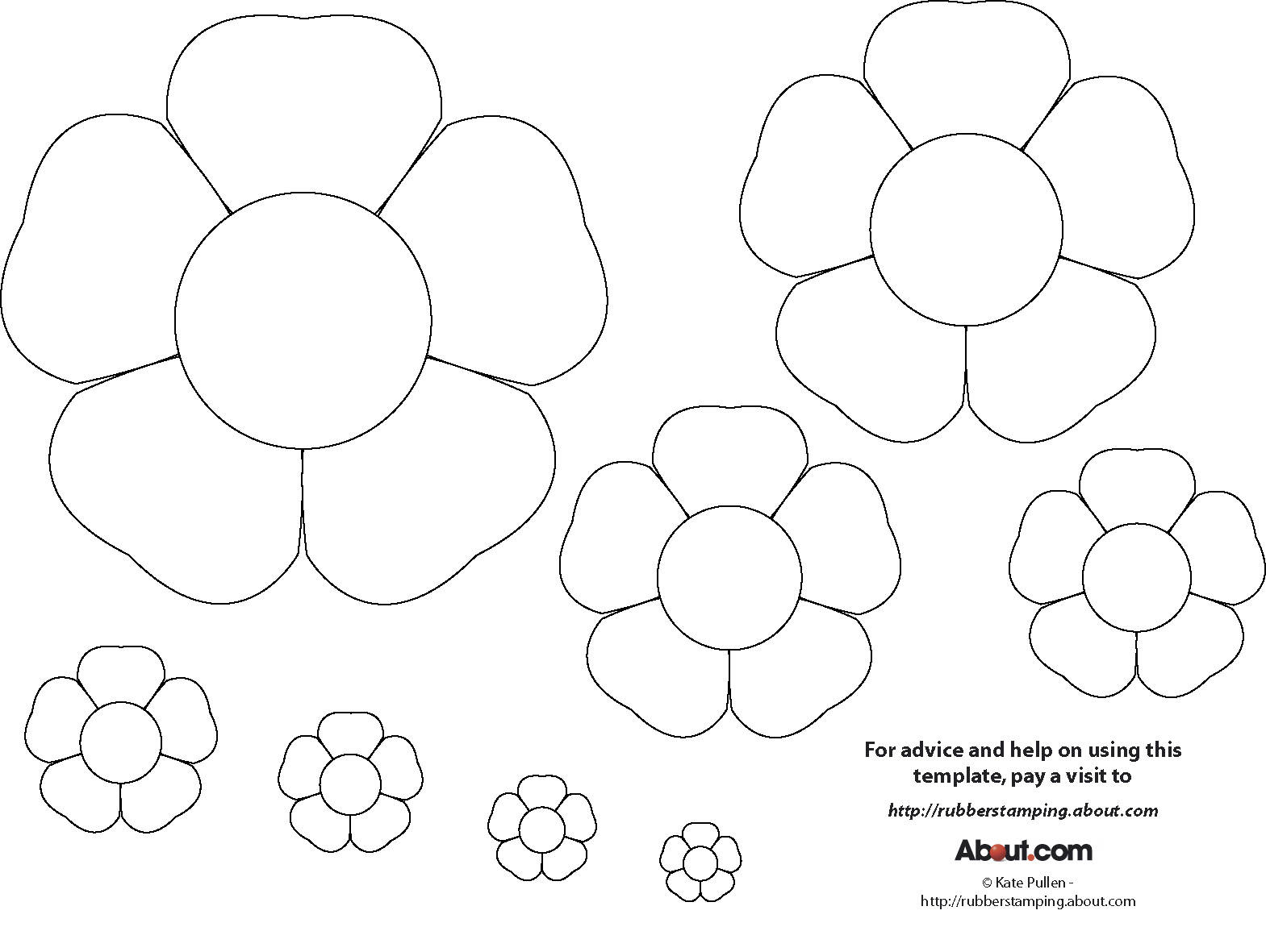 flower templates for coloring flower drawing template at getdrawings free download templates flower coloring for