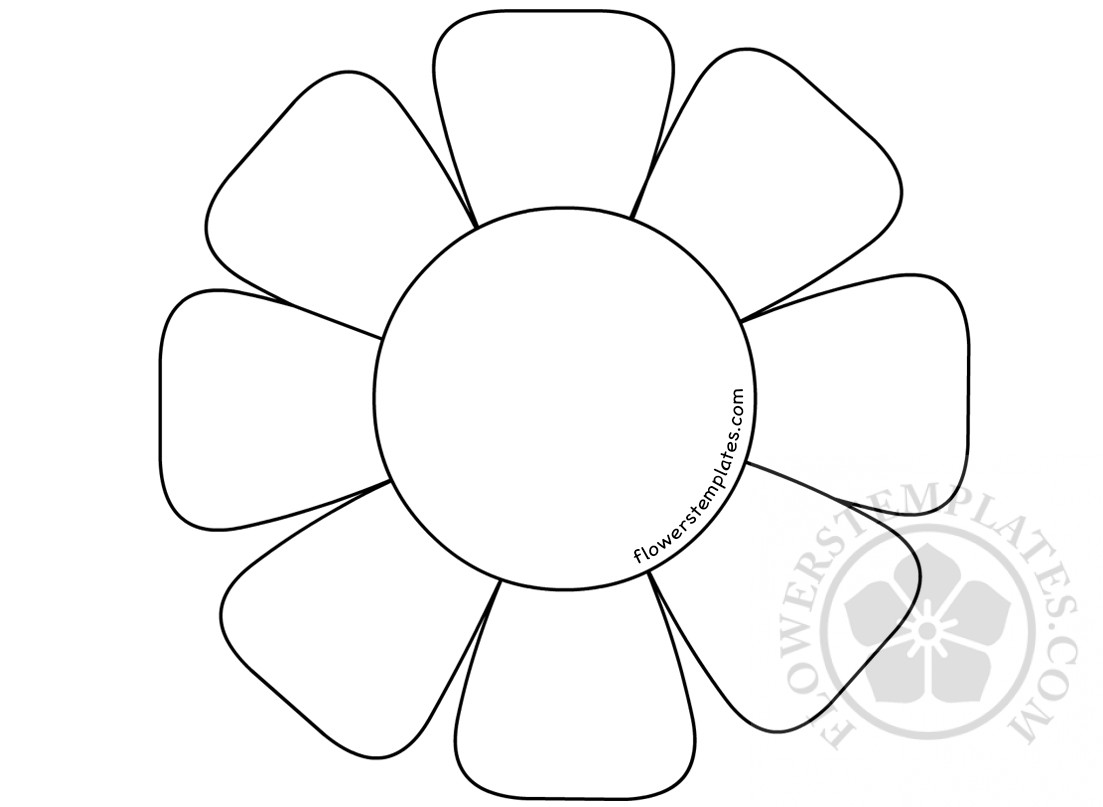 flower templates for coloring flower with 8 petals coloring page flowers templates for templates flower coloring