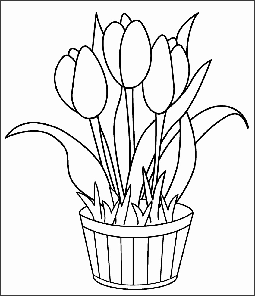 flower templates for coloring tulip coloring pages download and print tulip coloring pages for flower templates coloring