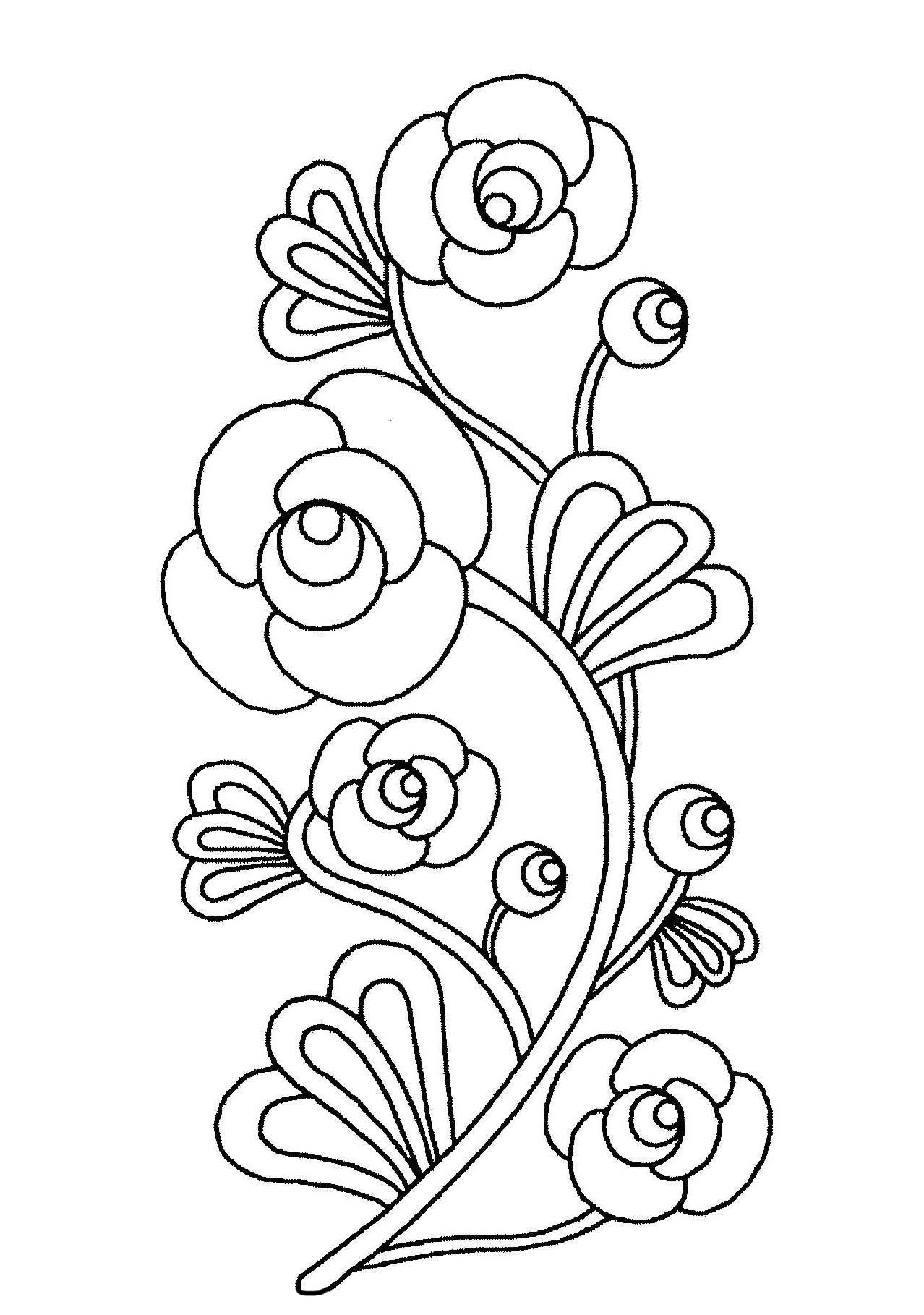 flowers pictures to colour beautiful flowers flowers coloring pages for kids to colour to pictures flowers