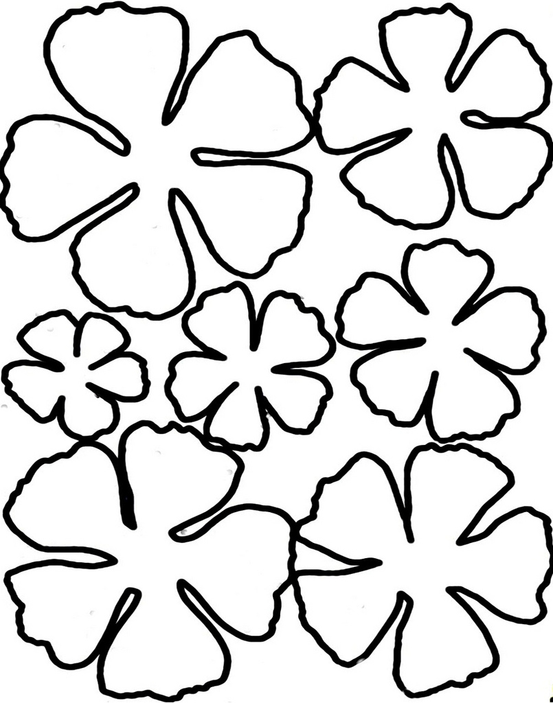 flowers to print out simple flower outline clipart 20 free cliparts download out flowers print to