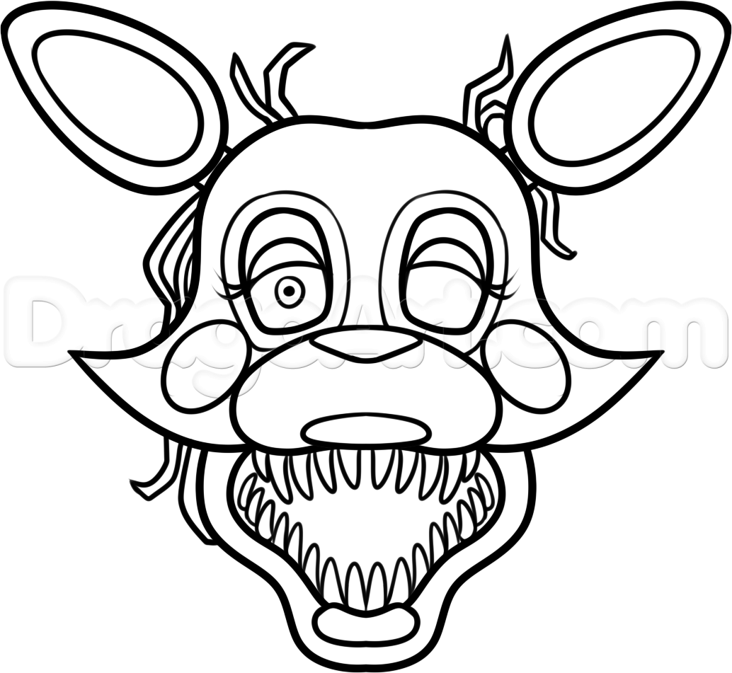 fnaf cupcake coloring pages how to draw the puppet easy by dawn dibujos de foxy coloring pages fnaf cupcake
