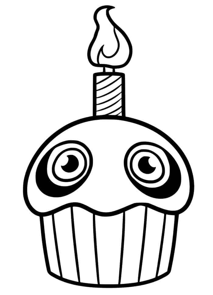 fnaf cupcake coloring pages library of five nights at freddy s chica s cupcake svg cupcake pages coloring fnaf