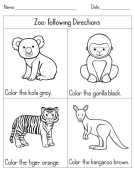 following directions coloring worksheets color by listening a following directions activity by worksheets following coloring directions