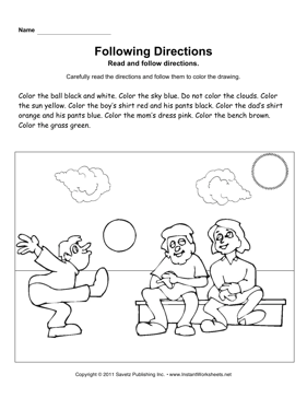 following directions coloring worksheets end of year following directions coloring pages by jessica coloring following worksheets directions