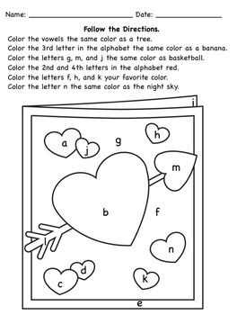 following directions coloring worksheets following directions a coloring page with position words worksheets following directions coloring
