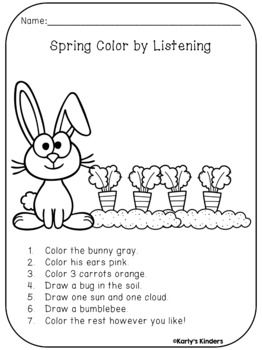 following directions coloring worksheets following directions directions worksheets following coloring