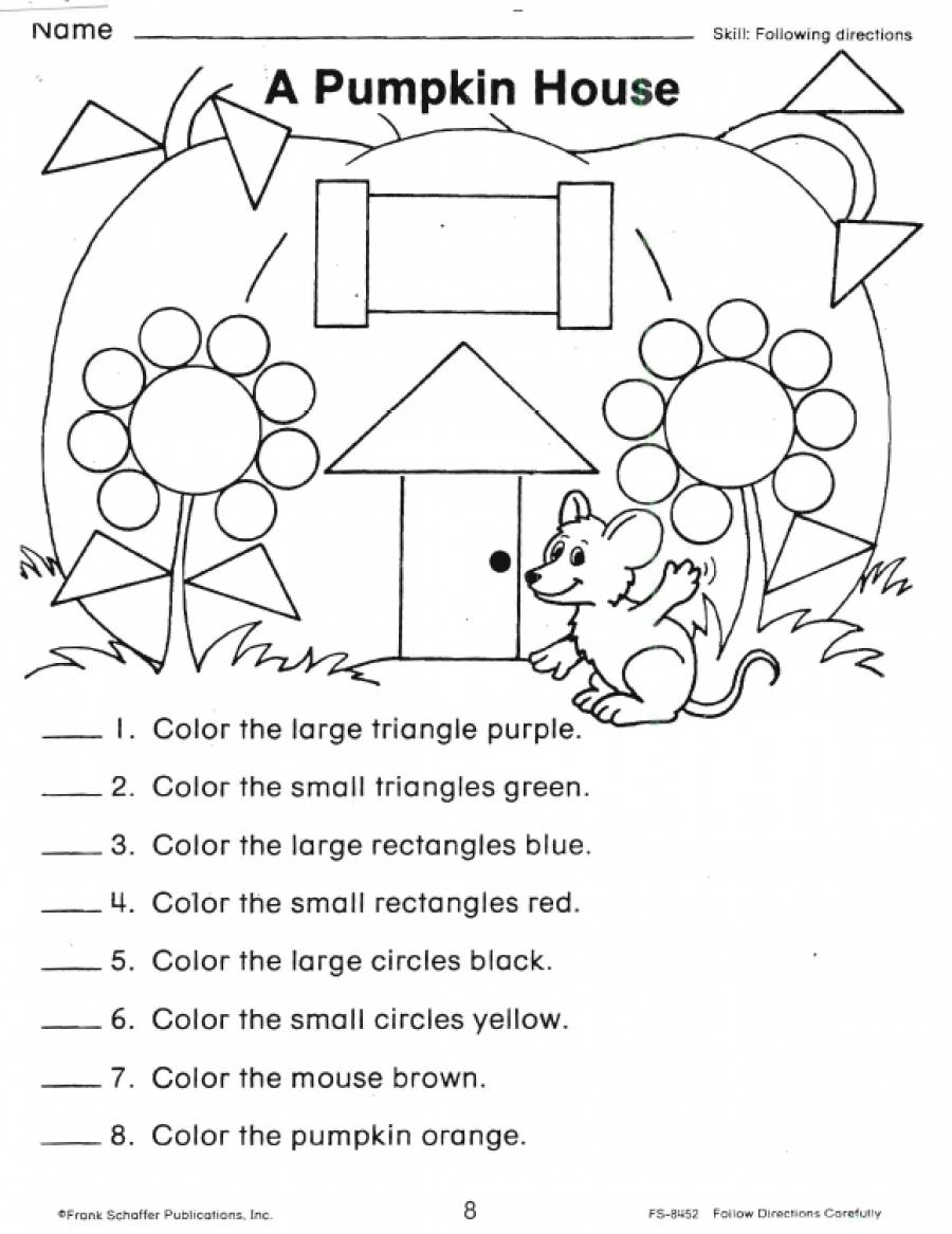 following directions coloring worksheets following directions worksheet free kindergarten worksheets coloring following directions