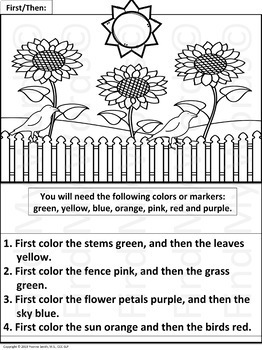 following directions coloring worksheets following directions worksheets by teaching special following coloring worksheets directions
