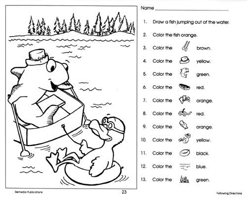 following directions coloring worksheets free download following directions coloring worksheet following worksheets coloring directions