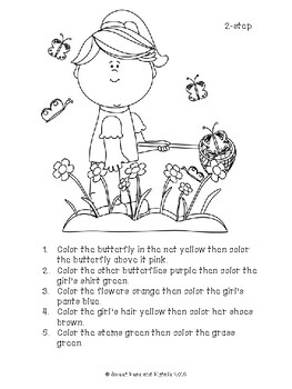 following directions coloring worksheets spring following directions cards coloring sheets by directions worksheets coloring following