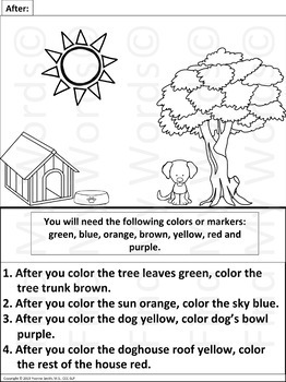 following directions coloring worksheets spring following directions worksheet for kindergarten directions worksheets following coloring