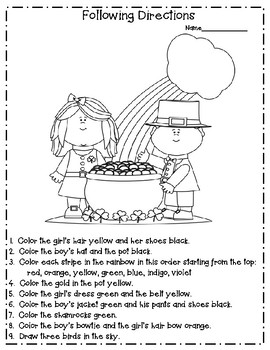 following directions coloring worksheets valentine39s following directions coloring worksheets by following coloring directions worksheets
