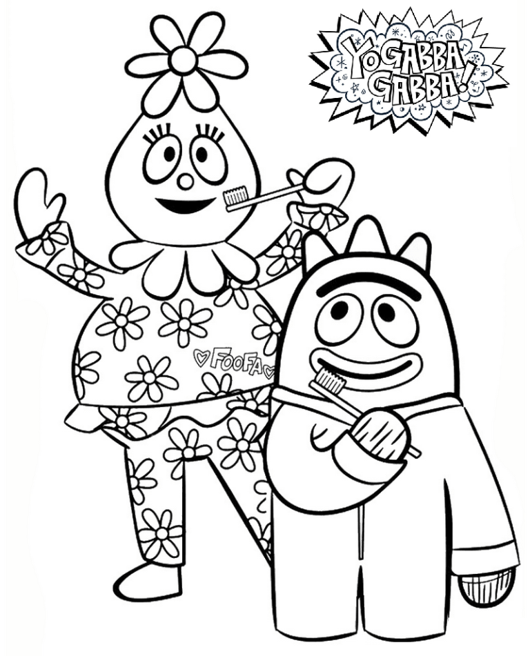 foofa coloring page brobee foofa and toodee want to save baby birds on tree in foofa coloring page