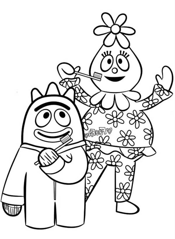 foofa coloring page yo gabba gabba coloring pages encourage kids to sing and coloring foofa page