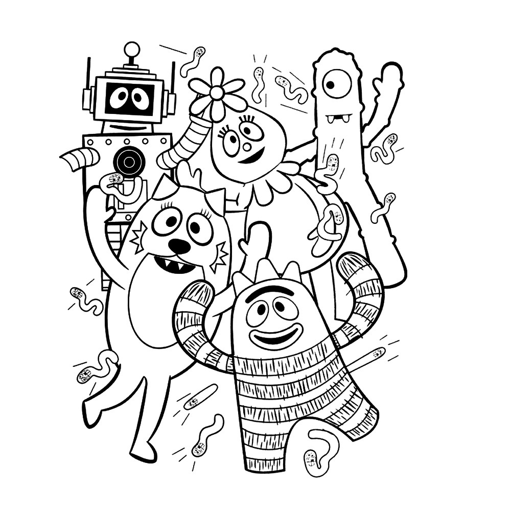 foofa coloring page yo gabba gabba coloring pages page 4 of 5 coloring foofa page